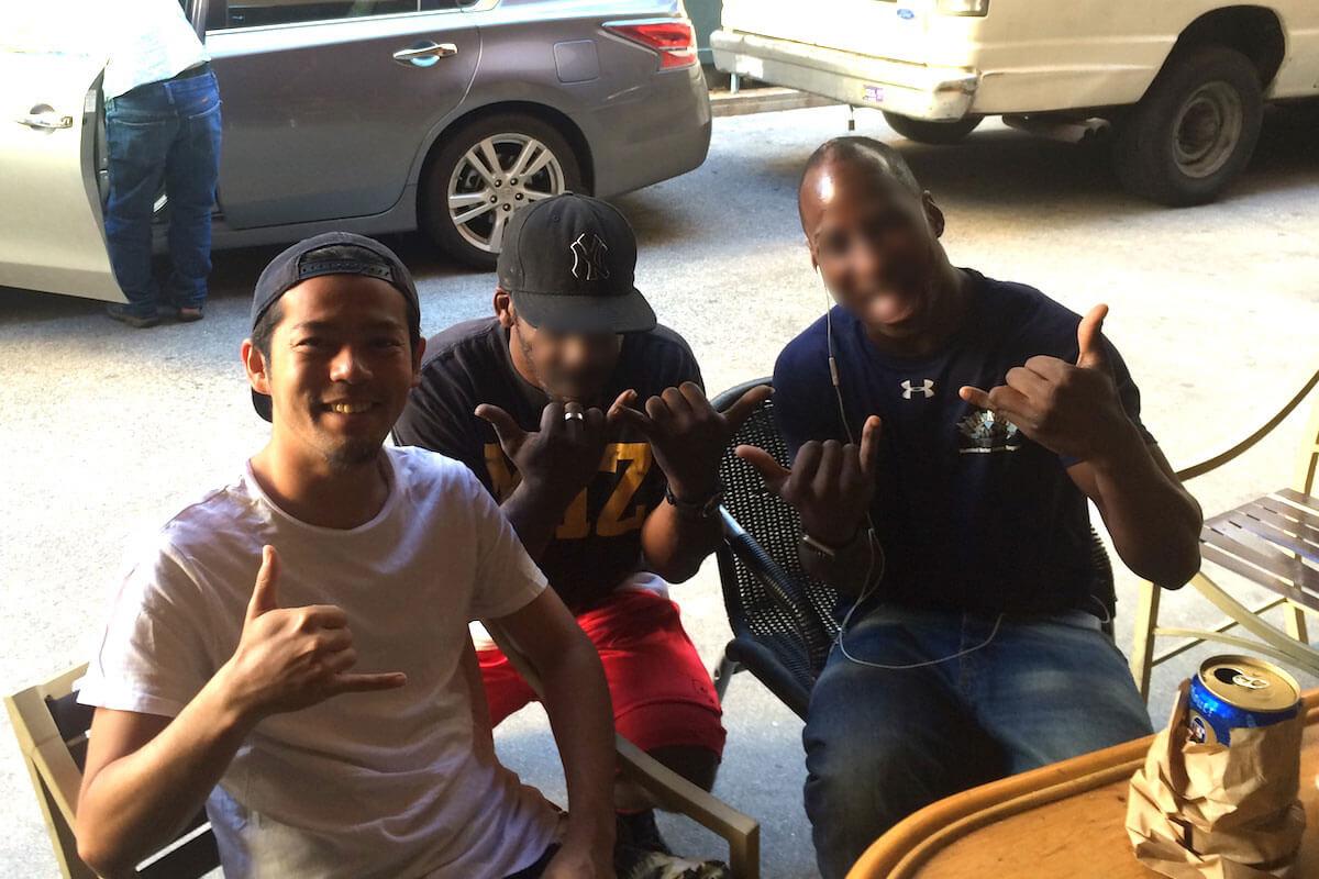 ハワイで黒人と英会話