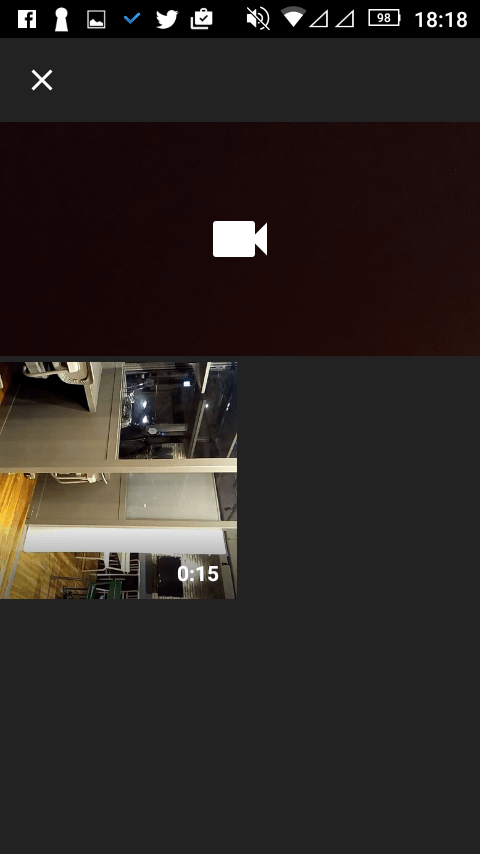 Androidスマホの動画選択画面