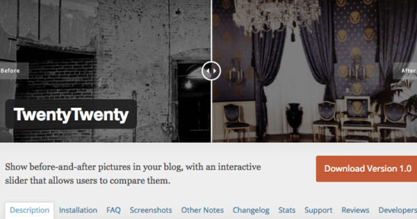 WordPressプラグイン TwentyTwenty